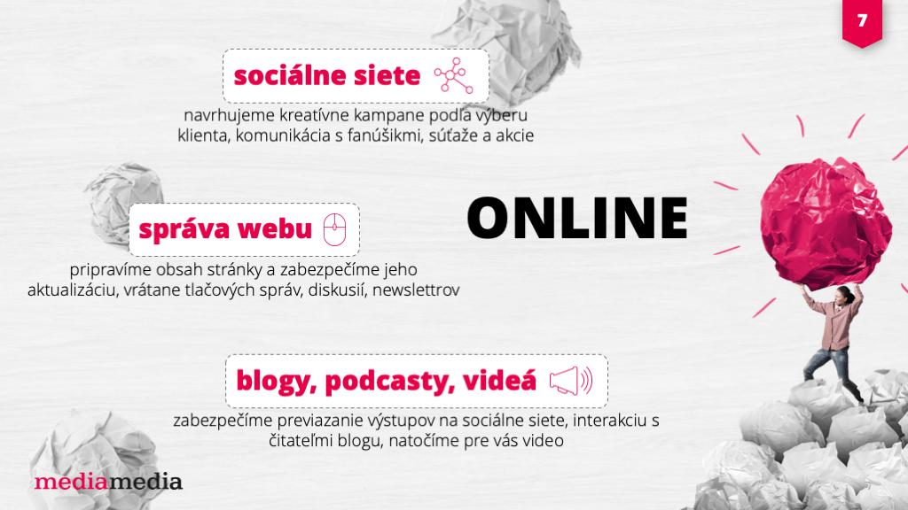 online media ukážka prezentácie