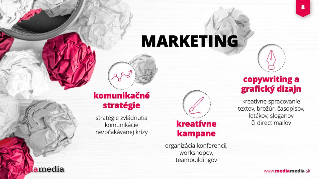 marketing ukážka prezentácie