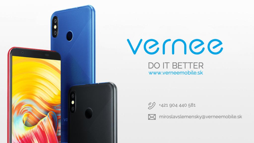 Kontakt Vernee ukážka firemnej prezentácie na mieru