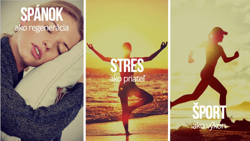 šport stres spánok ukážka prezentácie na mieru
